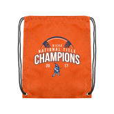 Orange Drawstring Backpack-McLennan Community College