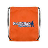 Orange Drawstring Backpack-McLennan Highlanders