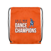 Orange Drawstring Backpack-2017 NDA National Dance Champions