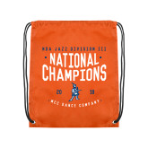 Orange Drawstring Backpack-2018 NDA Jazz National Champions