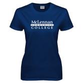 Ladies Navy T Shirt-McLennan Community College