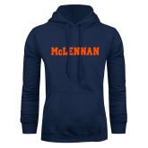 Navy Fleece Hoodie-McLennan Solid