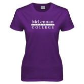 Ladies Purple T Shirt-McLennan Community College