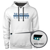 Contemporary Sofspun White Hoodie-McLennan Community College