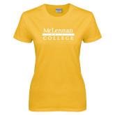 Ladies Gold T Shirt-McLennan Community College