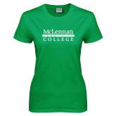 Ladies Kelly Green T Shirt-McLennan Community College