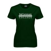 Ladies Dark Green T Shirt-McLennan Community College