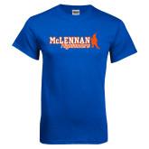 Royal T Shirt-McLennan Highlanders Distressed