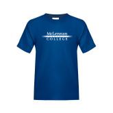 Youth Royal T Shirt-McLennan Community College