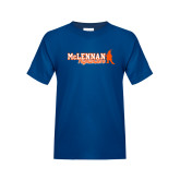 Youth Royal T Shirt-McLennan Highlanders