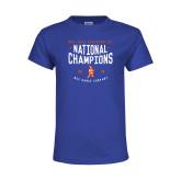 Youth Royal T Shirt-2018 NDA Jazz National Champions