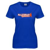 Ladies Royal T Shirt-McLennan Highlanders Distressed