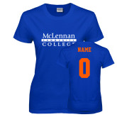 Ladies Royal T Shirt-McLennan Community College, Custom Tee w/ Name and #