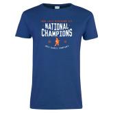 Ladies Royal T Shirt-2018 NDA Jazz National Champions