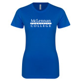 Next Level Ladies SoftStyle Junior Fitted Royal Tee-McLennan Community College