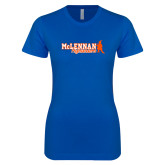 Next Level Ladies SoftStyle Junior Fitted Royal Tee-McLennan Highlanders