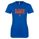 Next Level Ladies SoftStyle Junior Fitted Royal Tee-Dance