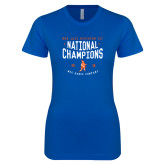 Next Level Ladies SoftStyle Junior Fitted Royal Tee-2018 NDA Jazz National Champions