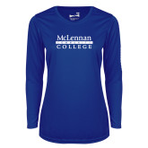 Ladies Syntrel Performance Royal Longsleeve Shirt-McLennan Community College