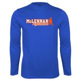 Performance Royal Longsleeve Shirt-McLennan Highlanders