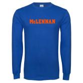 Royal Long Sleeve T Shirt-McLennan Solid