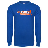 Royal Long Sleeve T Shirt-McLennan Highlanders Distressed