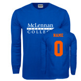 Royal Long Sleeve T Shirt-McLennan Community College, Custom Tee w/ Name and #