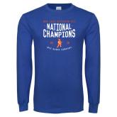 Royal Long Sleeve T Shirt-2018 NDA Jazz National Champions