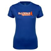 Ladies Syntrel Performance Royal Tee-McLennan Highlanders