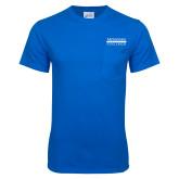 Royal T Shirt w/Pocket-McLennan Community College