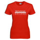 Ladies Red T Shirt-McLennan Community College