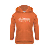 Youth Orange Fleece Hoodie-McLennan Community College