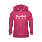 Youth Raspberry Fleece Hoodie-McLennan Community College