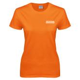 Ladies Orange T Shirt-McLennan Community College