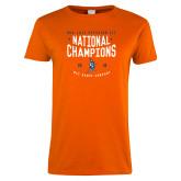 Ladies Orange T Shirt-2018 NDA Jazz National Champions