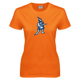 Ladies Orange T Shirt-Highlander