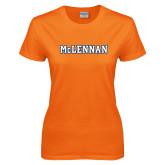 Ladies Orange T Shirt-McLennan