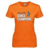 Ladies Orange T Shirt-2017 NDA National Dance Champions