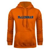 Orange Fleece Hoodie-McLennan Solid