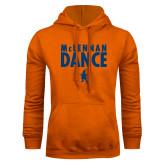Orange Fleece Hoodie-Dance