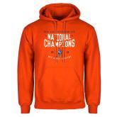 Orange Fleece Hoodie-2018 NDA Jazz National Champions
