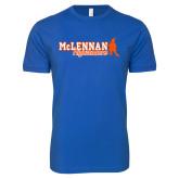 Next Level SoftStyle Royal T Shirt-McLennan Highlanders