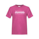 Youth Cyber Pink T Shirt-McLennan Community College