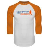 White/Orange Raglan Baseball T Shirt-McLennan Highlanders