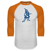 White/Orange Raglan Baseball T Shirt-Highlander