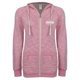 ENZA Ladies Hot Pink Marled Full Zip Hoodie-McLennan Community College