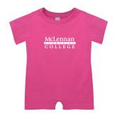 Bubble Gum Pink Infant Romper-McLennan Community College