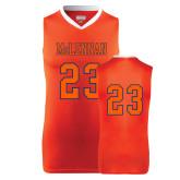 Replica Orange Adult Basketball Jersey-#23