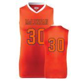Replica Orange Adult Basketball Jersey-#30