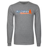 Grey Long Sleeve T Shirt-McLennan Highlanders